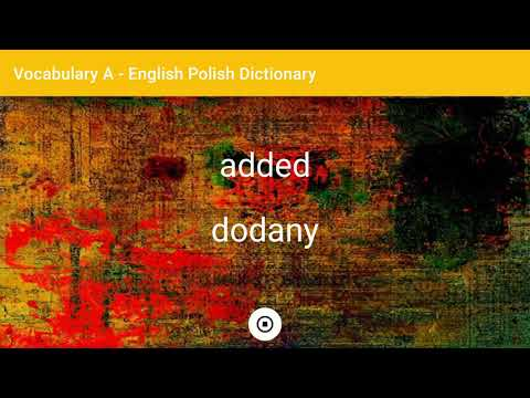 English - Polish Dictionary - Vocabulary A