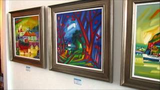 Artist Raymond Murray Exhibition in the Seagull Gallery Gourock 2012