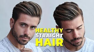 How to Have Straight Healthy Hair | From Curly to Straight (At Home) Alex Costa