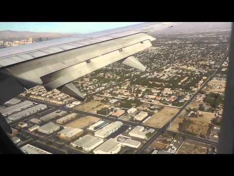 Посадка в аэропорту города Лас-Вегас