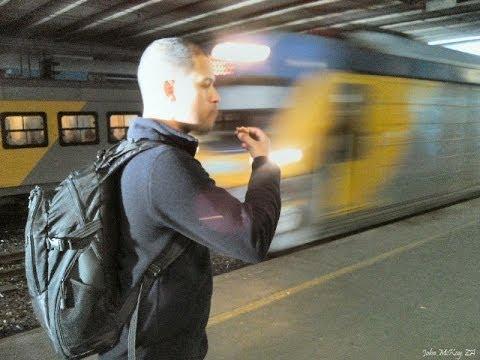 Train ride in Cape Town, South Africa (MetroRail)