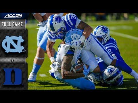 North Carolina Vs. Duke Full Game | 2018 ACC Football