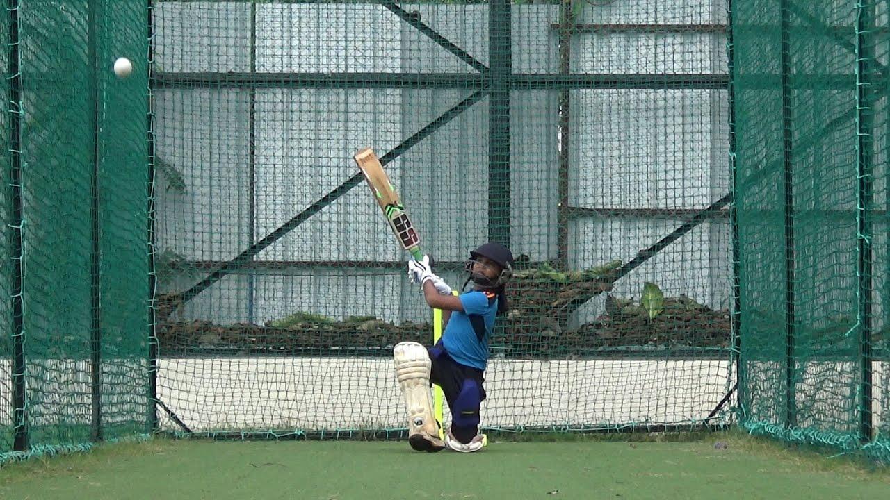 Cricket practice with Angad Thakur