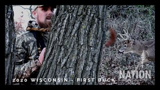 FIRST BUCK!!! Wisconsin Bow Hunt - Deer Hunting 2020
