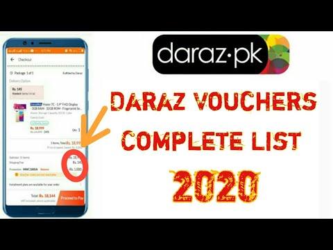 Daraz Voucher Codes List 2020 !