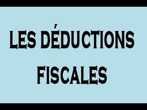 explication les déductions fiscales,tax , DARIJA;