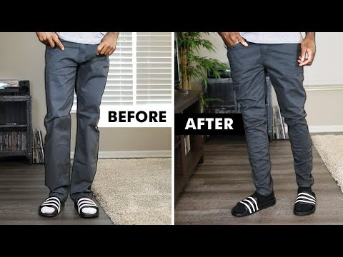HOW TO SELF-TAPER YOUR JEANS & PANTS | I AM RIO P.