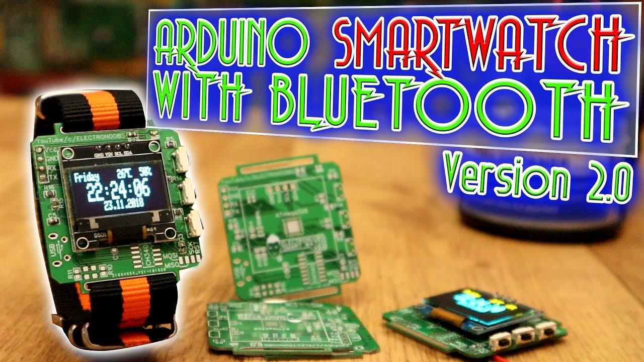 Arduino smartwatch bluetooth code OLED display RTC