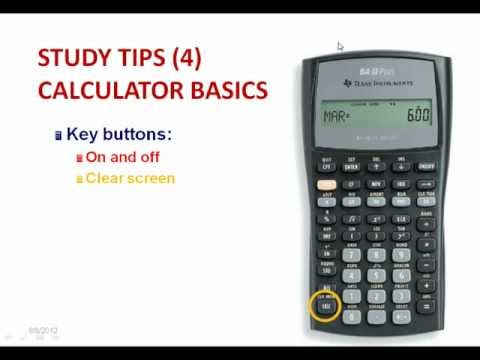CFA ® Level 1 Free Study Tips Webinar 2012: Calculator Tips