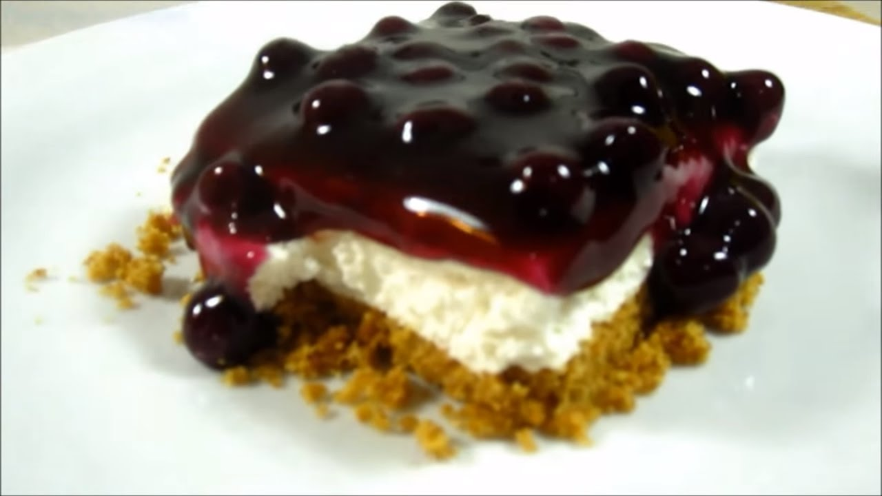 No Bake Blueberry Cheesecake Pinoy Dessert Recipes Youtube