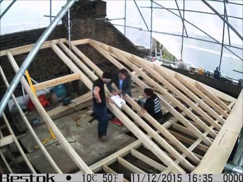 Changing flat roof, to a more traditional pitched roof finish part 4