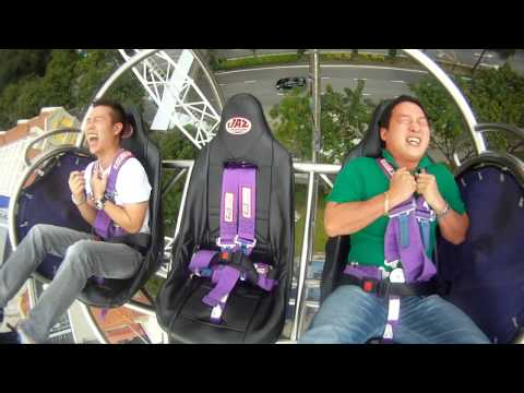 A must watch! Gmax reverse Bungee at Clarke Quay, Singapore!