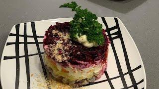 Салат ШУБА Селедка под Шубой Блюдо на Новогодний Стол Майонезные салаты