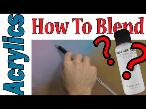 How to blend ACRYLIC paints EASY