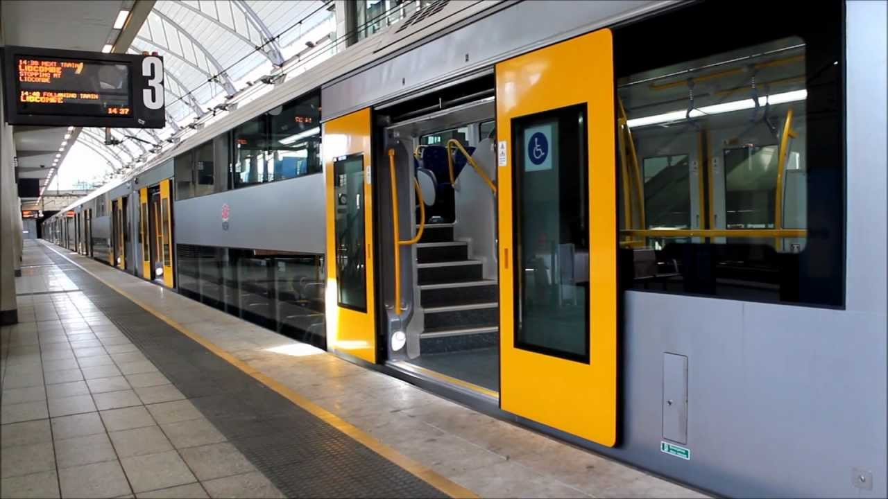 CityRail A Set Waratah Train Departing From Olympic Park Station