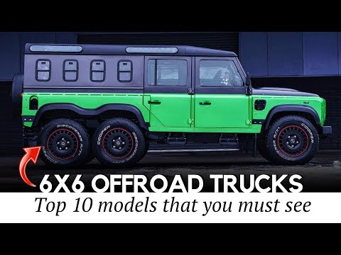 10 Brutal 6х6 Vehicles More Powerful than Ordinary Off-Road Trucks