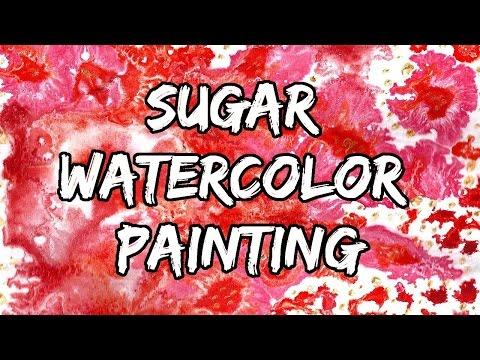 Sugar Watercolor Painting Tutorial || Watercolor Technique