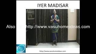 How to wear Iyer style nine yard madisar  saree
