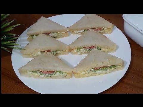 Egg Sandwich Recipe | Quick & Easy Egg Sandwich Breakfast Bangla Recipe