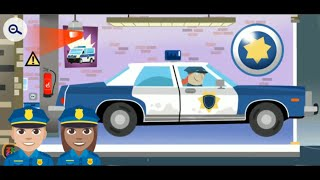 Fun Playing Little Police Station Game - Drive Various Police Cars to Catch Bad Guys Games for Kids