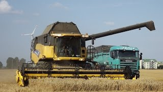 || GR Chełmo || Mega Żniwa 2016 Claas Lexion 580, New Holland CR9070, x2 Scania