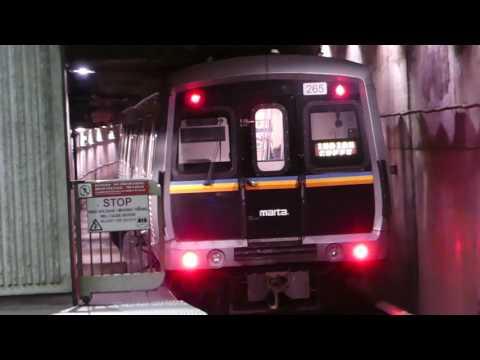 MARTA Transit: SFB/Hitachi CQ310/CQ311 Blue & Green Lines at Dome/GWCC/Phillips/CNN Station