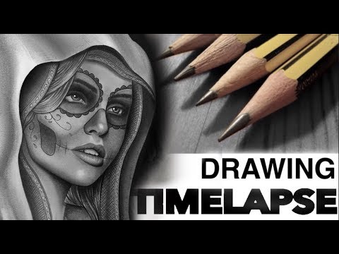 DRAWING TIME LAPSE | DAY OF THE DEAD | CHRISSY LEE