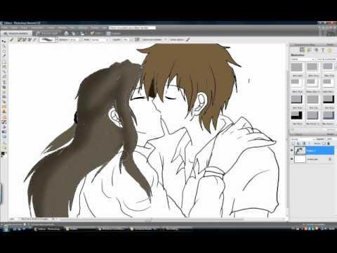 How I Draw Anime Kiss Youtube