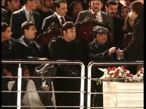 Zardari drinking something special before dance in parade ground