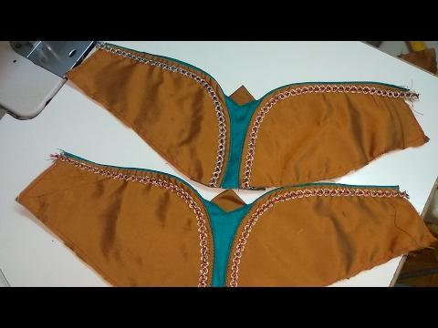 How To Make Designer Blouse At Home 35 Designer Bridal Butterfly Designer Hand Youtube