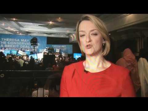 Laura Kuenssberg 'Theresa May shakes babies' BBC
