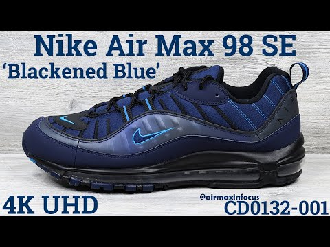 [4K] Nike Air Max 98 SE 'Blackened Blue' CD0132-001 (2020) An Unboxing and Detailed Look! Navy Black