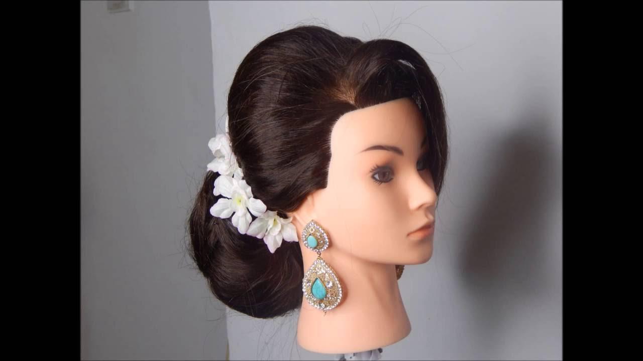 Indian Bridal Hairstyle Pakistani Bridal Hairstyle Youtube