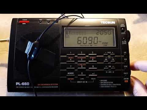 Amhara State Radio, Etiopia 6090 khz Tecsun PL-660 desde Mendoza (ARG)