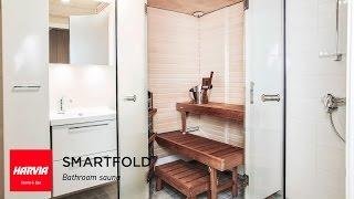 Harvia SmartFold Sauna - video(Harvia SmartFold Sauna Ota kylpyhuoneen neliöt tehokäyttöön! Harvian uusi kokoontaittuva kylpyhuonesauna SmartFold käyttää lattiatilaa vain tarpeen ..., 2014-03-13T10:27:41.000Z)