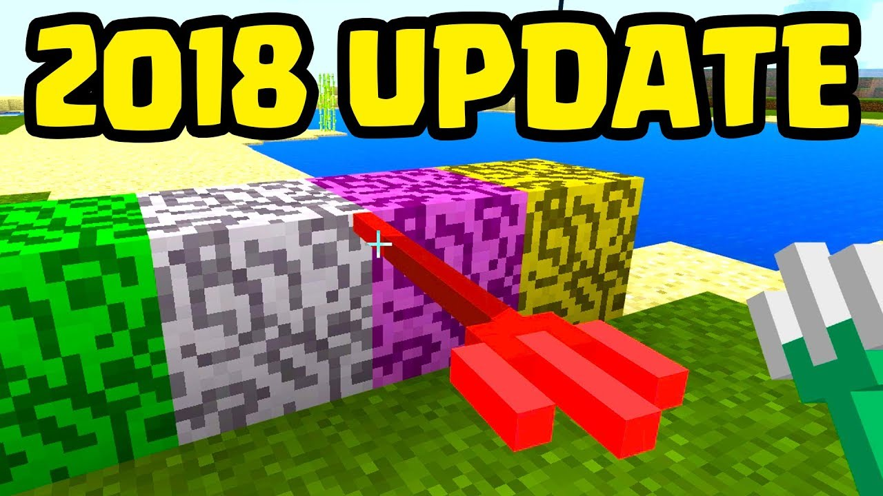 Minecraft 2018 Update Early Gameplay New Blocks Trident Turtle