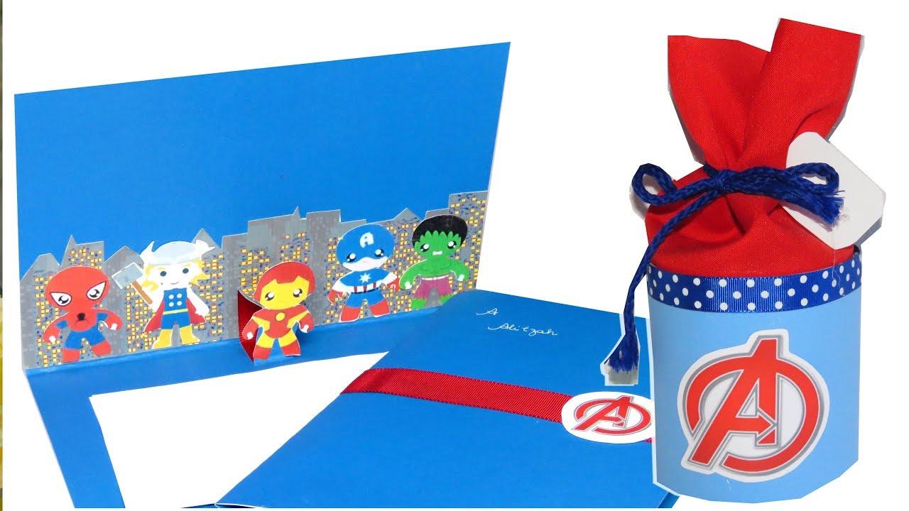 Os Vingadores Avengers Como Fazer Convite E Lembrancinha