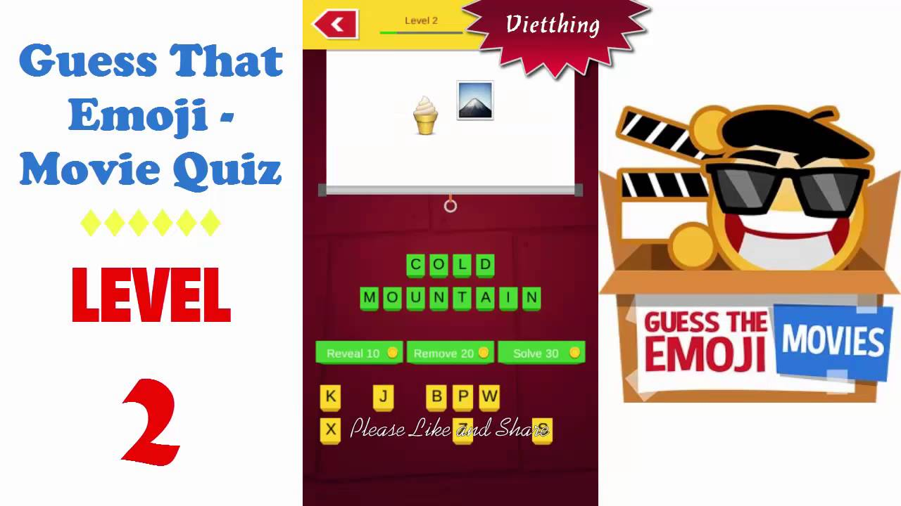 Guess That Emoji Movie Quiz Level 2 All Answers Walkthrough