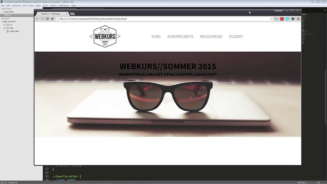 Webkurs - HTML-Seite erstellen - Teil 1 - YouTube