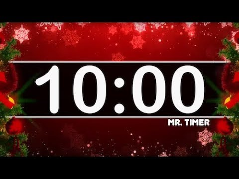 10 Minute Timer with Christmas Music! Countdown Timer for Kids