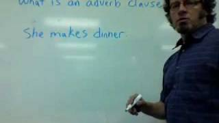 What is an adverb clause?