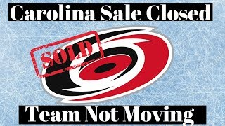 Carolina Hurricanes Sale Closed - Franchise Discussion