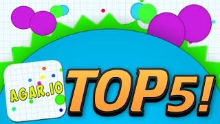 AGARIO TOP 5 MOMENTS! - Trolling, Mods, Highscore, Biggest, Funny Moments! -  (Agar.io Part 1)