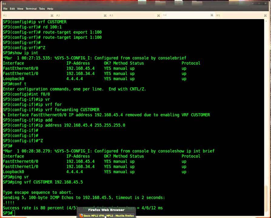 Basic MPLS VPN