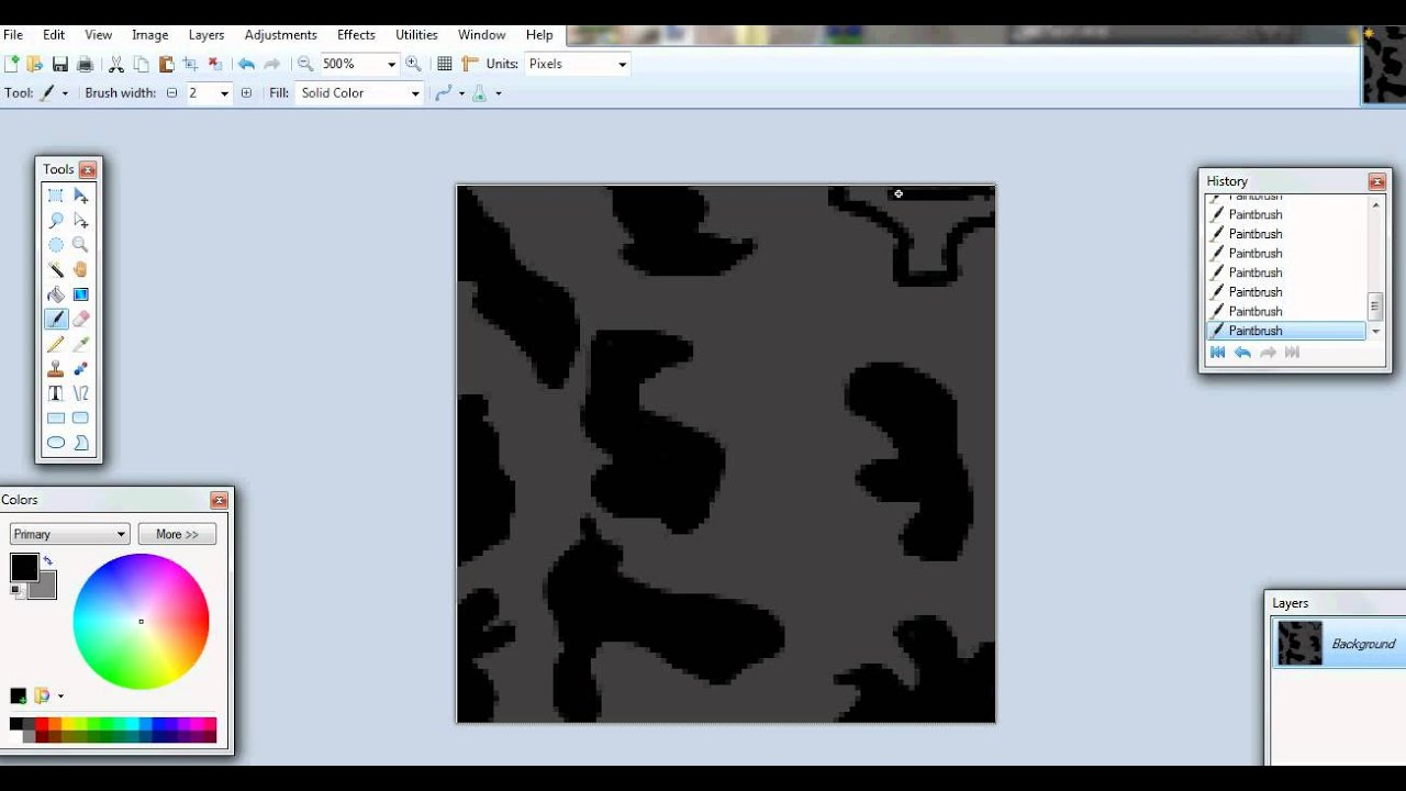 cede9b0c How to make Camo on ROBLOX-Paint.NET - YouTube