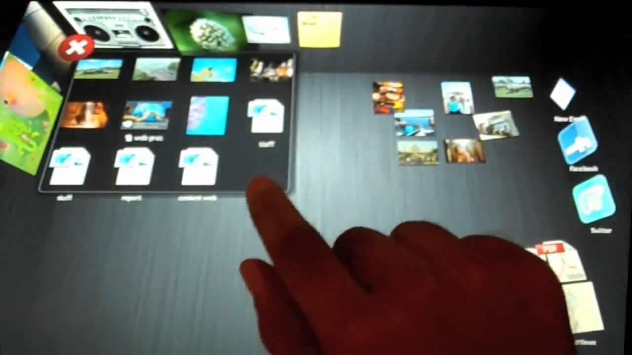 First look on windows 8 quot wind quot 3d desktop youtube