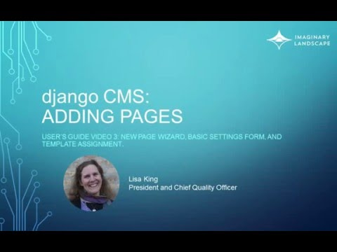 django CMS User's Guide 3 Adding Pages