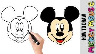 easy draw mickey mouse disney drawing step beginners drawings tutorial tutorials die maus