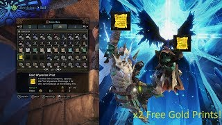 Monster Hunter World: HOW TO GET 2 FREE GOLD WYVERIAN PRINTS!