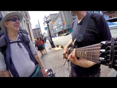 The Six Milion Dollar Guitar - Live Busking at Waterfront St